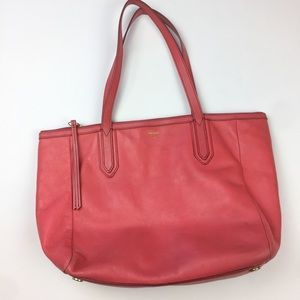 Fossil pink Sydney shopper purse medium size